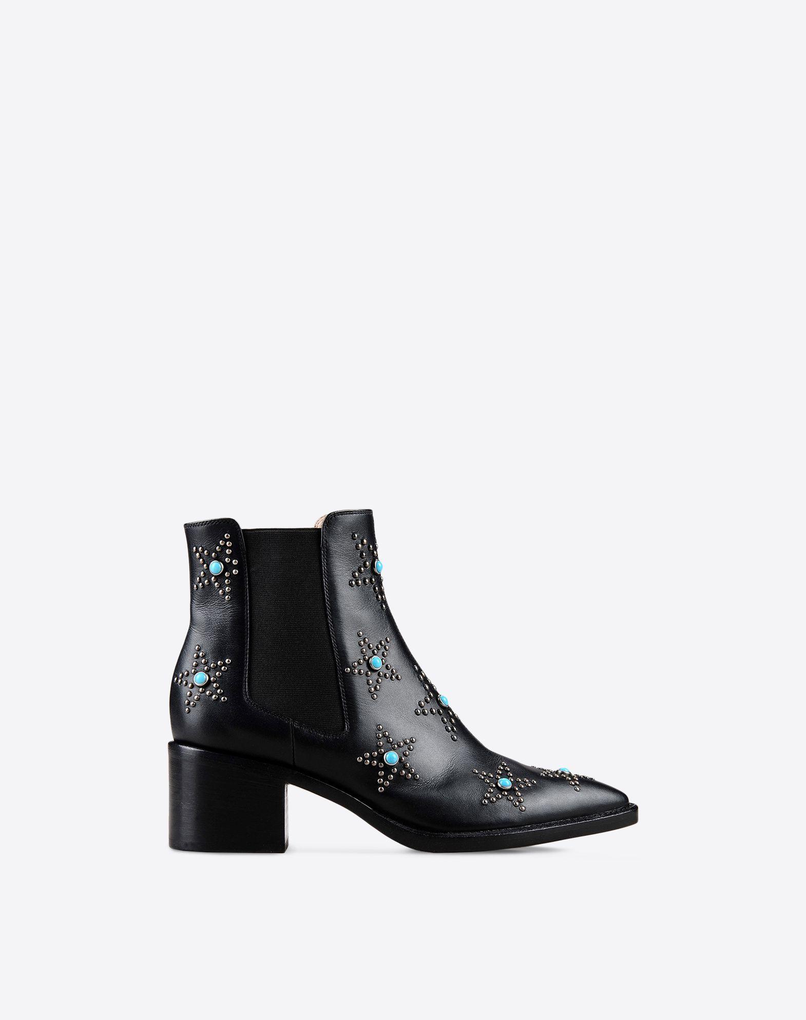 valentino garavani starstudded beatle boots in black