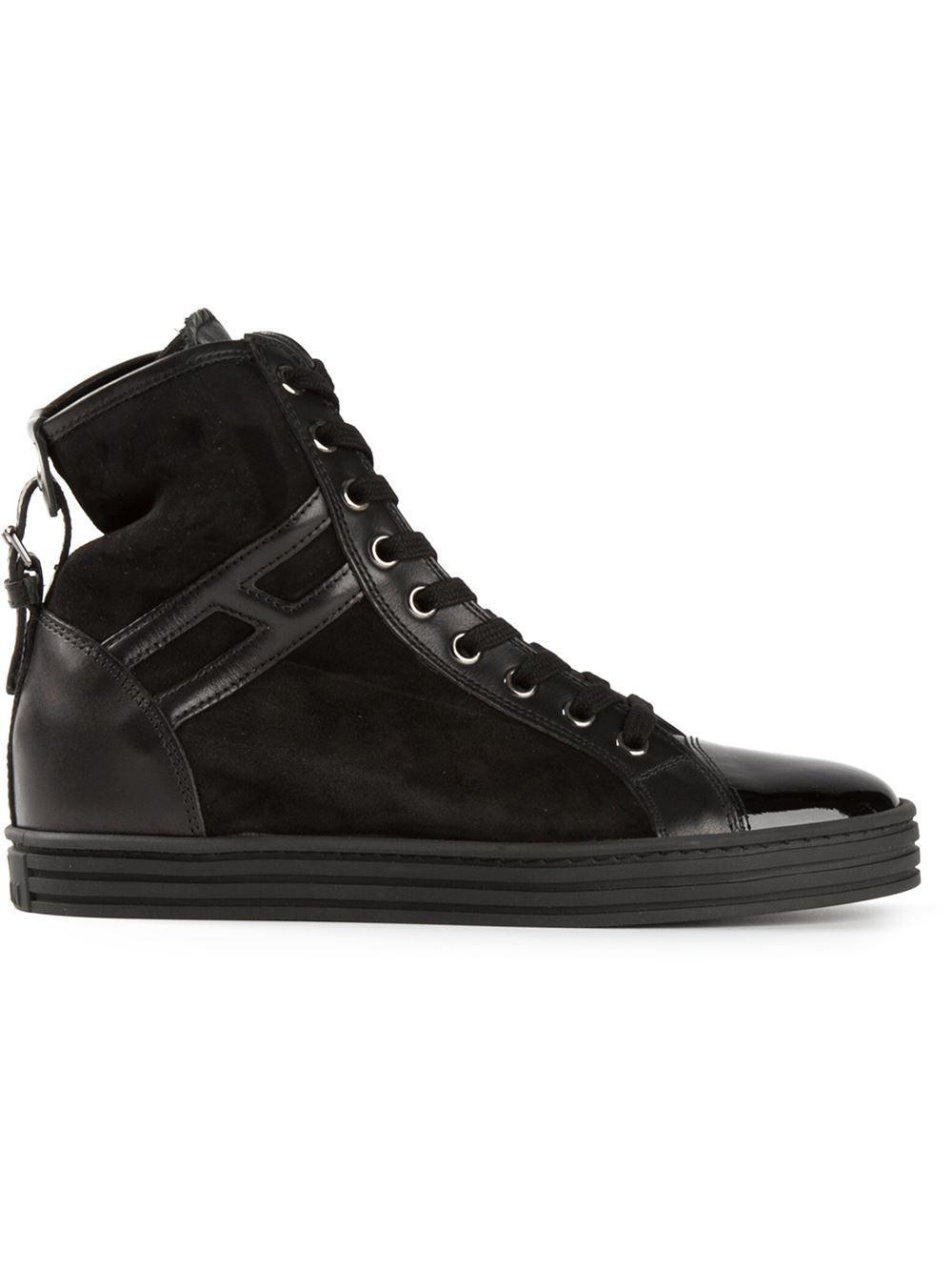 f61790d62e0a2 Lyst - Hogan Rebel Scarpe in Black