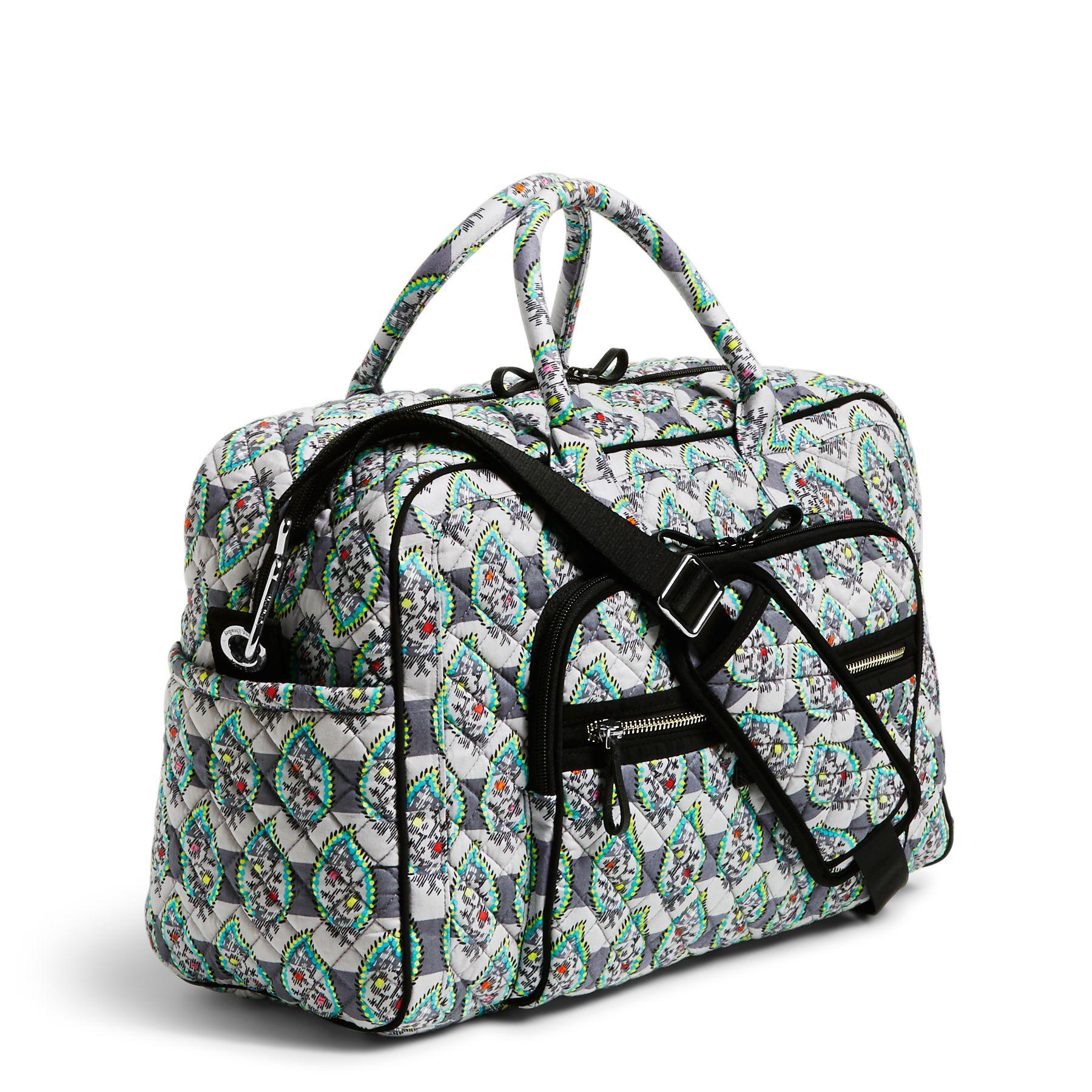 c4447d7e1 Vera Bradley Iconic Compact Weekender Travel Bag - Lyst