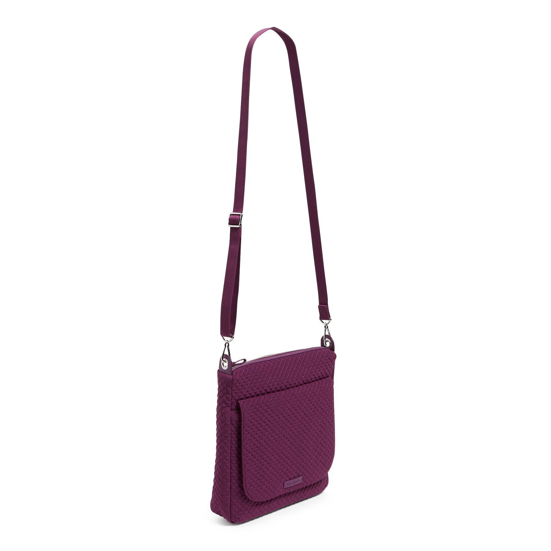 Lyst - Vera Bradley Carson Solid Cross-body Mailbag in Purple ed568ed57