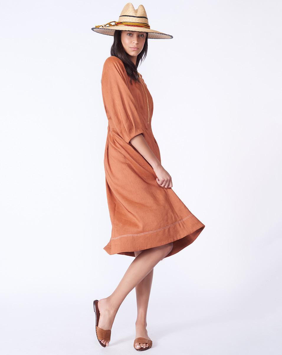 90d24045c0f5 Lyst - Veronica Beard Claudia Dress in Orange