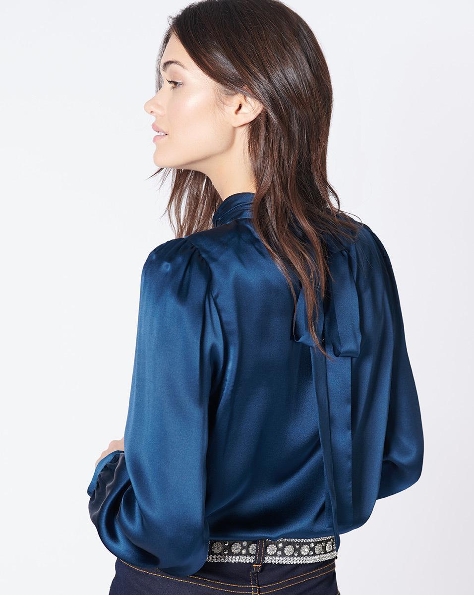 31056df031807 Lyst - Veronica Beard Chilton Blouse in Blue