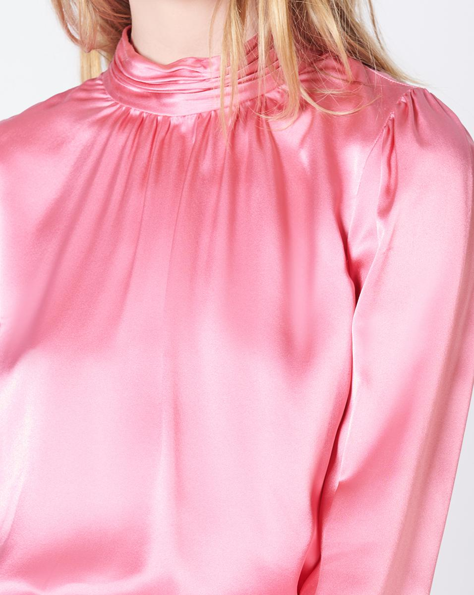 6d1aefe977d11 Lyst - Veronica Beard Chilton Bow Back Silk Blouse in Pink