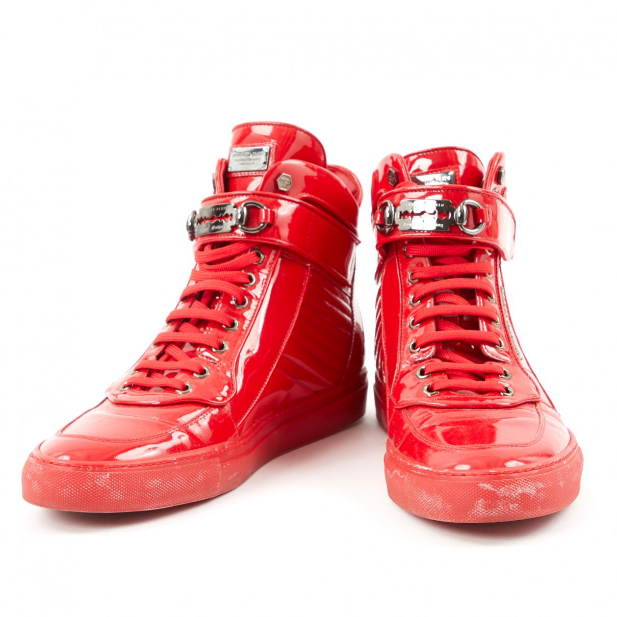 Pre-owned - Patent leather high trainers Philipp Plein YnFBB