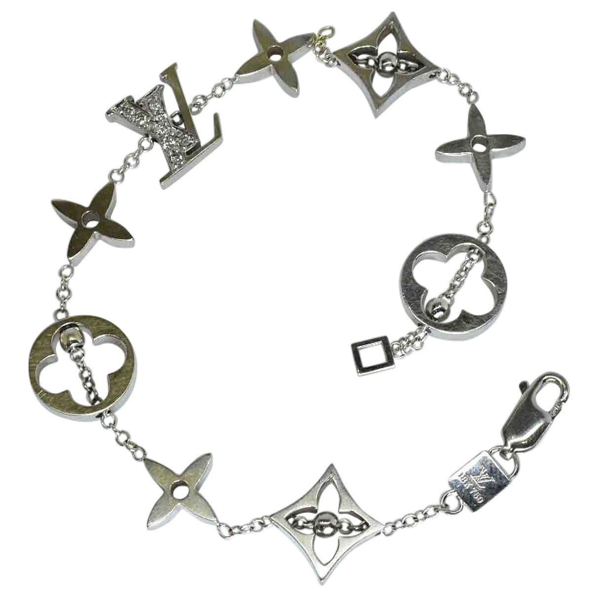 6b392e80f410 Louis Vuitton. Women s Metallic Idylle Blossom Silver White Gold Bracelets