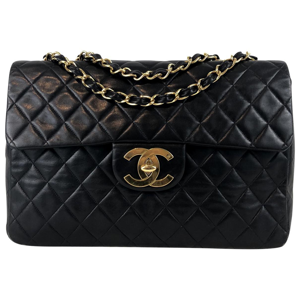 67ca6f5156bb Lyst - Chanel Timeless Leather Crossbody Bag in Black