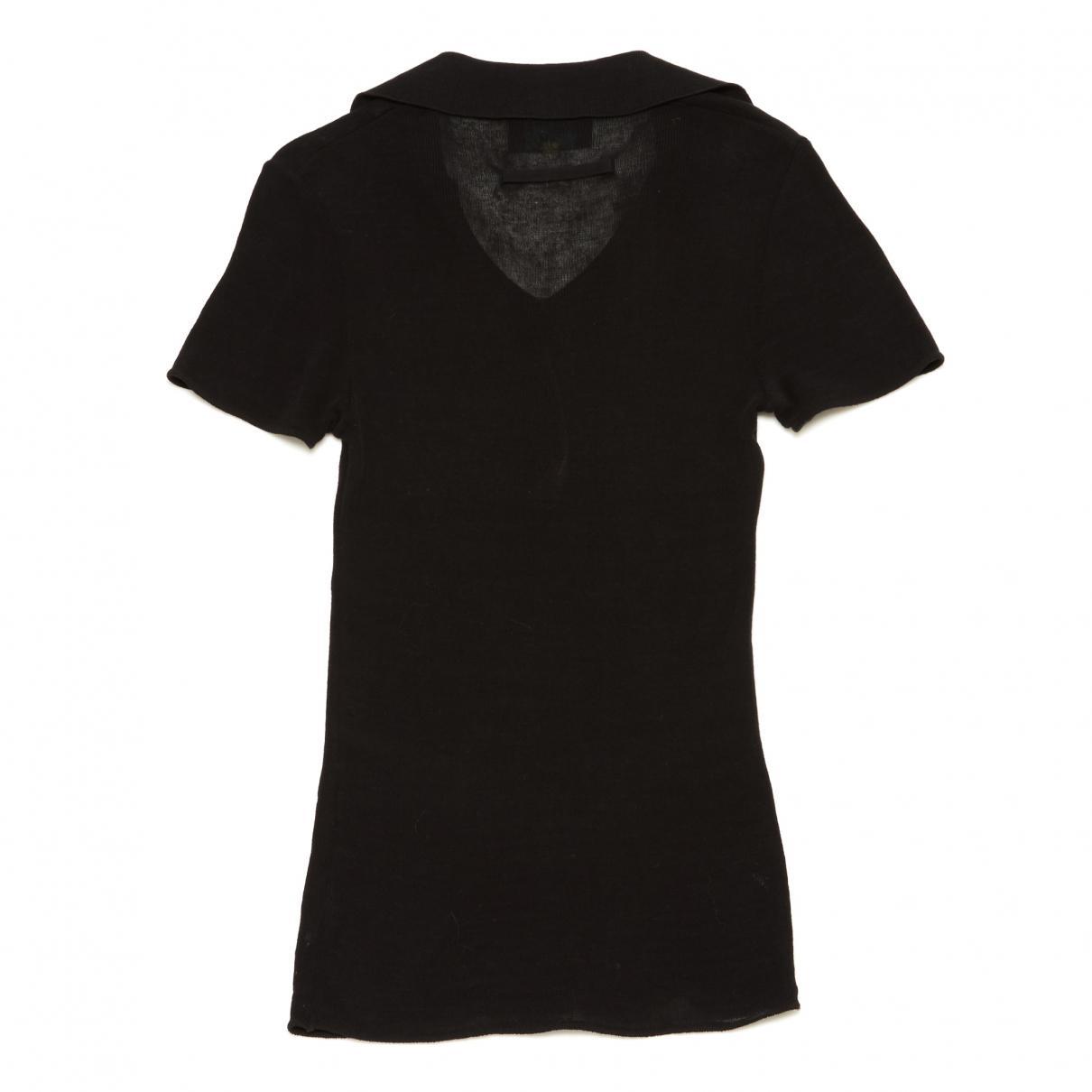Jean Paul Gaultier Vintage Black Cotton Polo Shirts in Black for Men ... 0bebabd43
