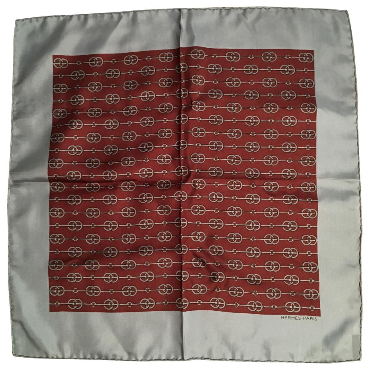 Lyst - Foulard Gavroche en soie Hermès en coloris Marron bd418fe997c