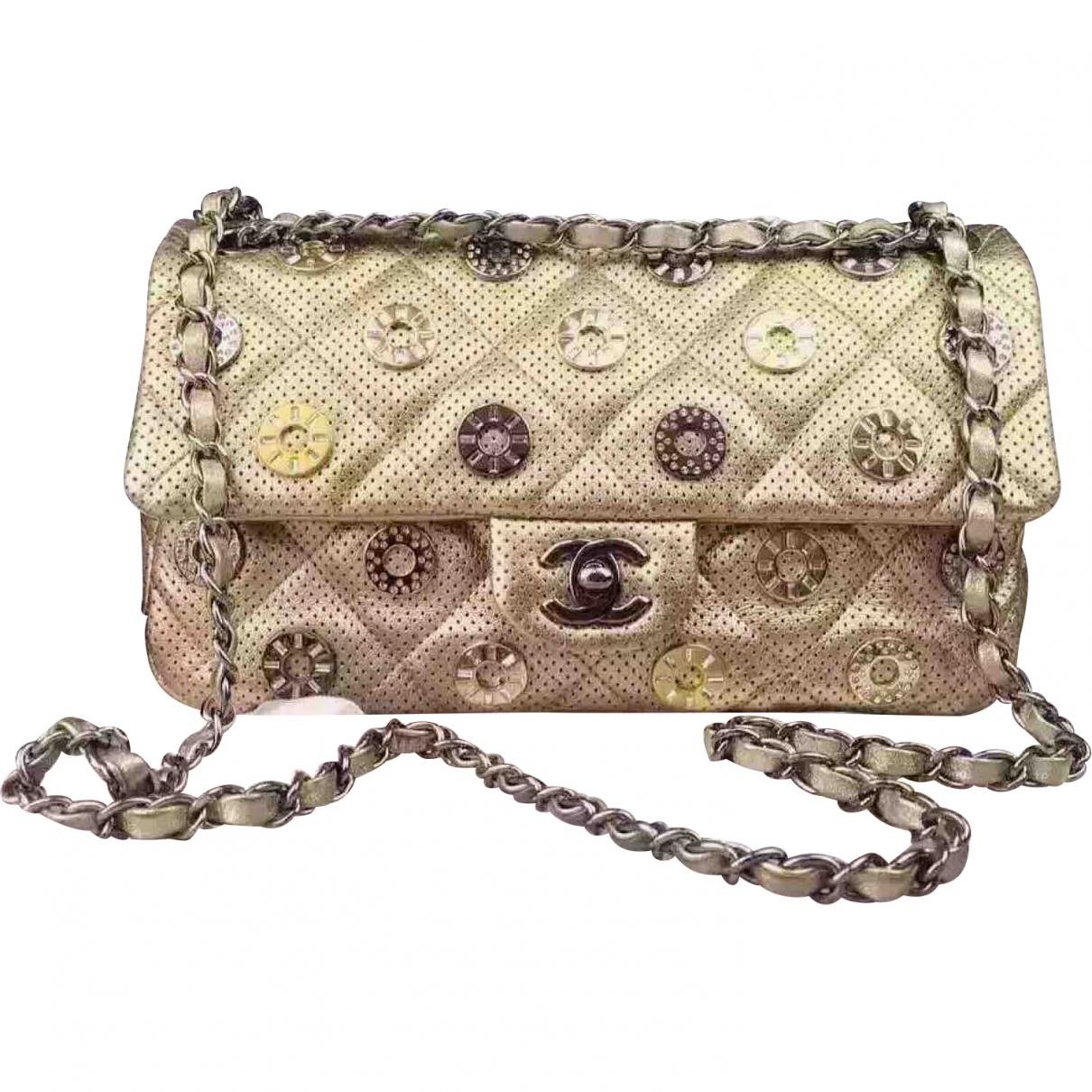 bcfc35eda5bf Lyst - Chanel Pre-owned Timeless Leather Crossbody Bag in Metallic