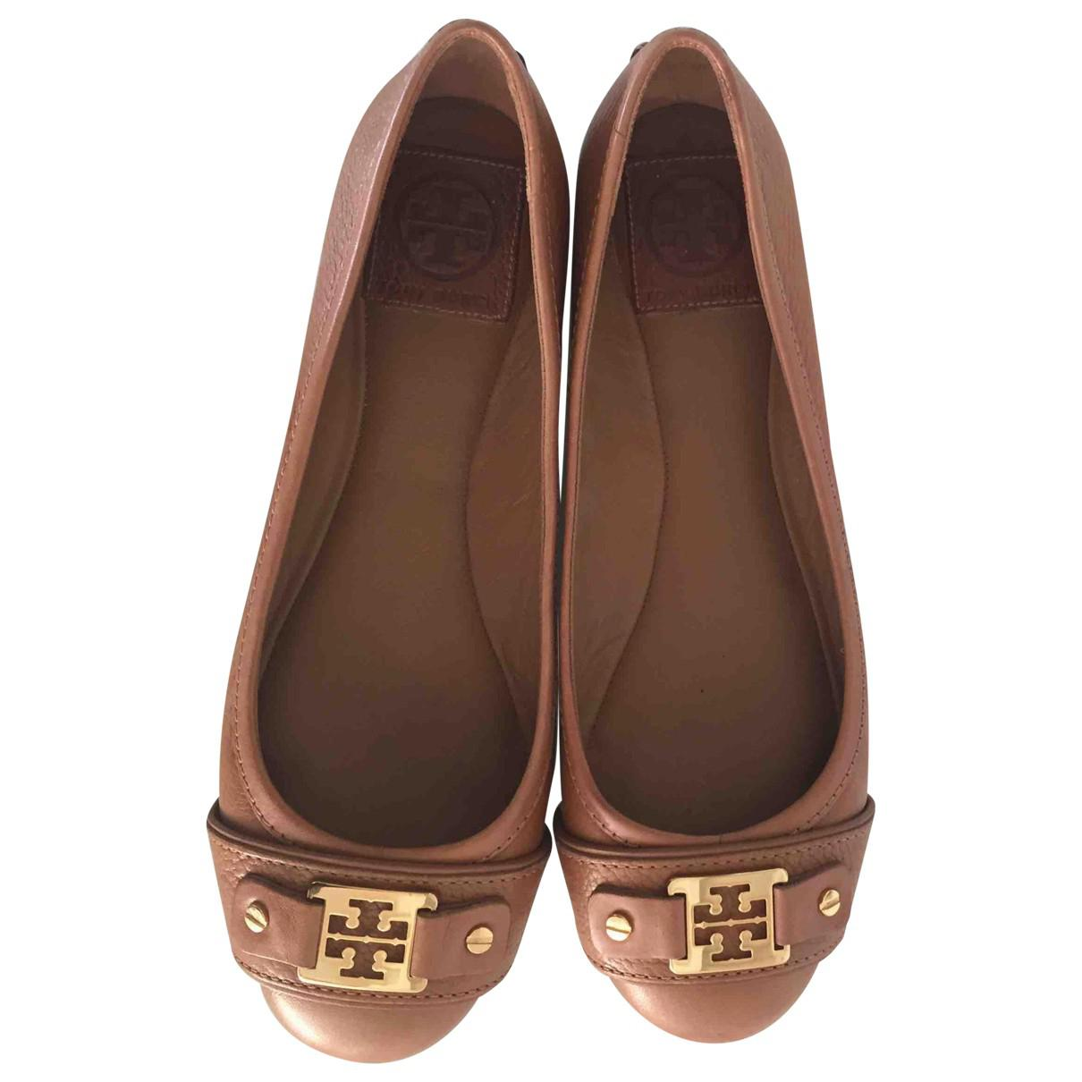 c04826e4a00d Tory Burch Pre-owned Leather Ballet Flats in Brown - Lyst