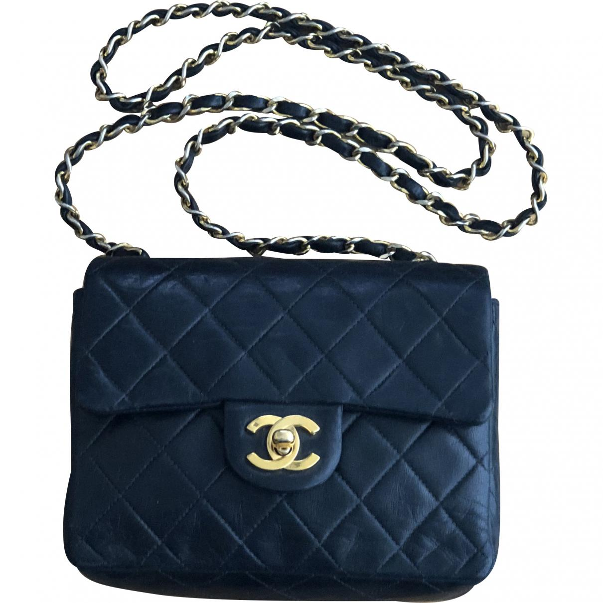 Lyst - Chanel Timeless Leather Clutch Bag in Black 9dbf4313262a7