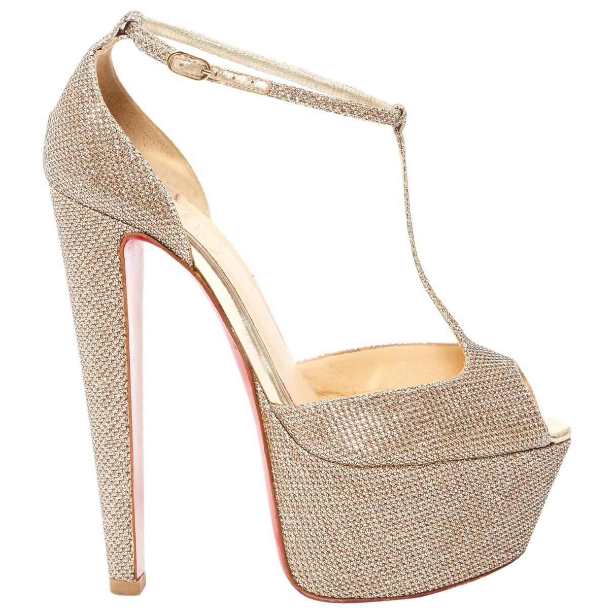 Pre-owned - Cloth sandals Christian Louboutin 92zjsbFz6P