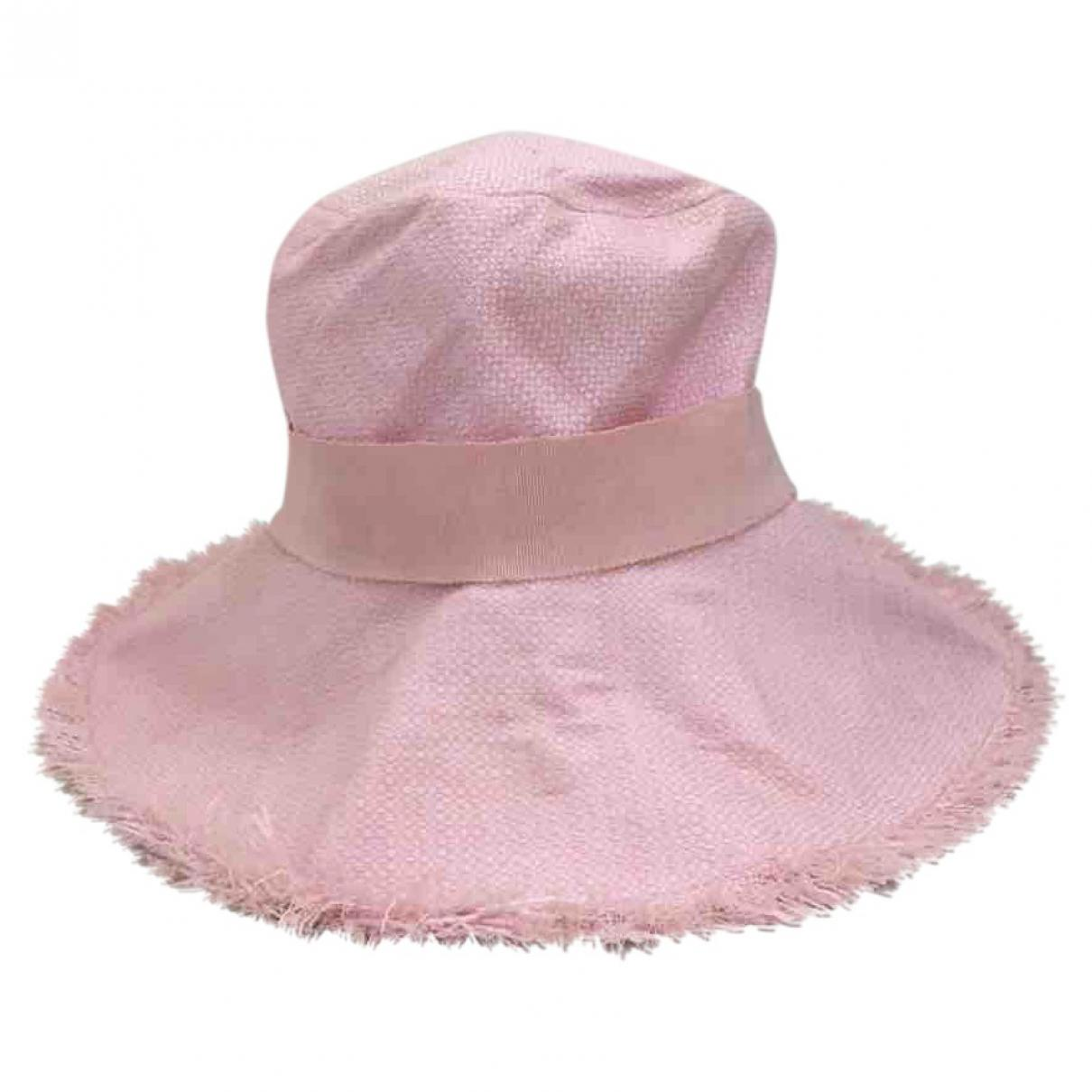 a731507de6b Lyst - Chanel Pre-owned Pink Cotton Hats in Pink