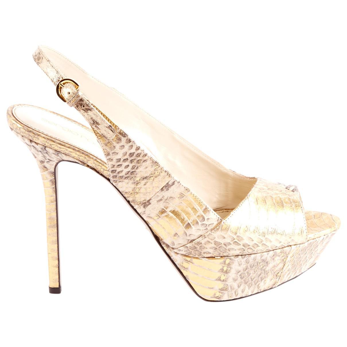 Pre-owned - Python sandals Sergio Rossi 9hlbJWSVNW