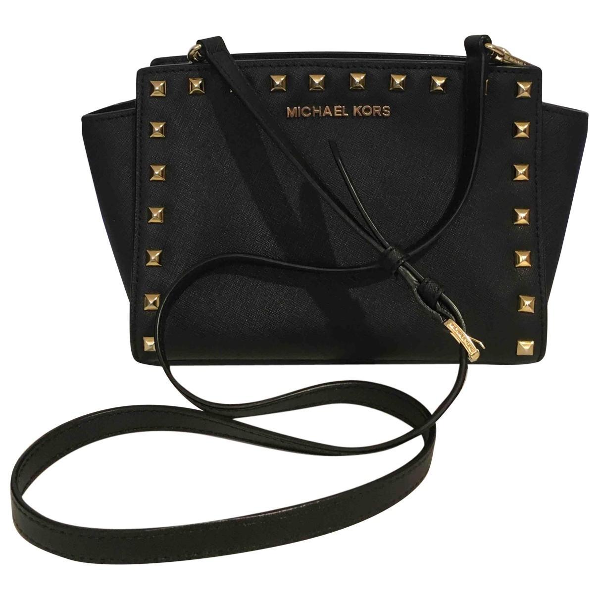 Michael Kors Black Pre Owned Leather Crossbody Bag Lyst View Fullscreen