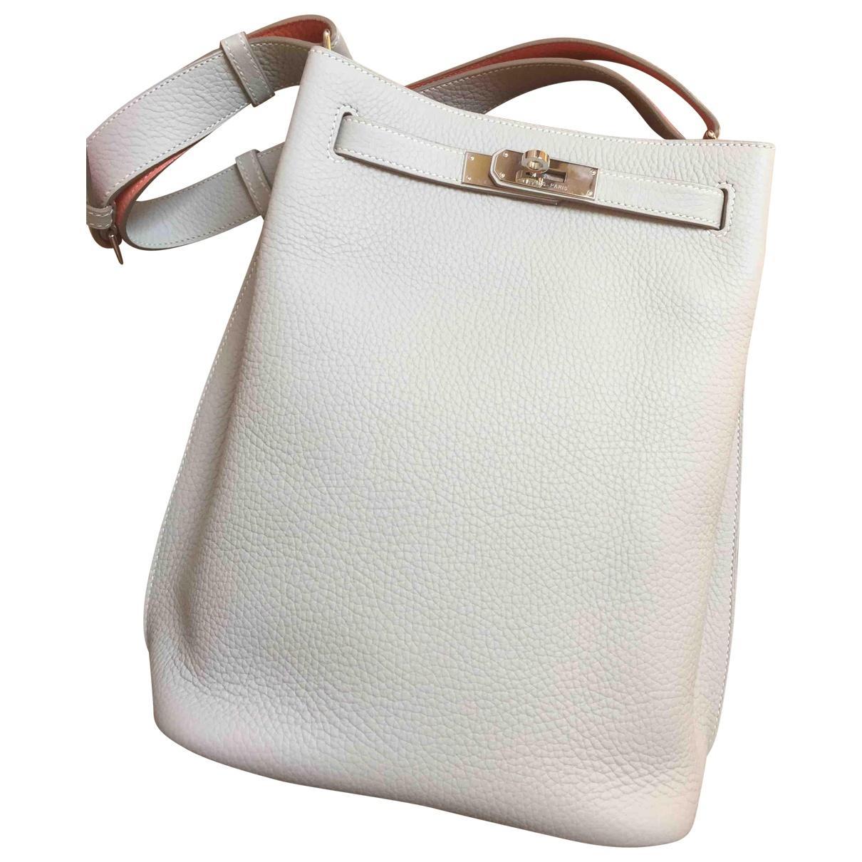 d417ae85704b Lyst - Hermès Pre-owned So Kelly Leather Handbag in White