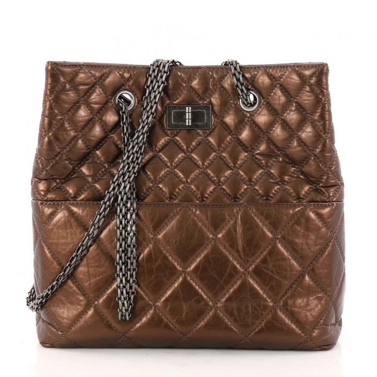Chanel Women S Metallic Pre Owned Leather Handbag