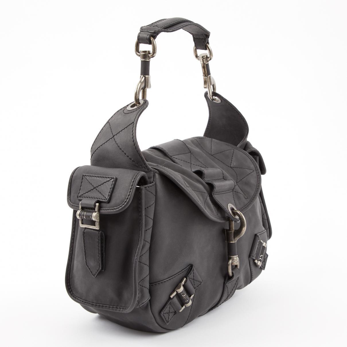 ce9bb6ffa1c6 Dior Vintage Grey Leather Handbag in Gray - Lyst