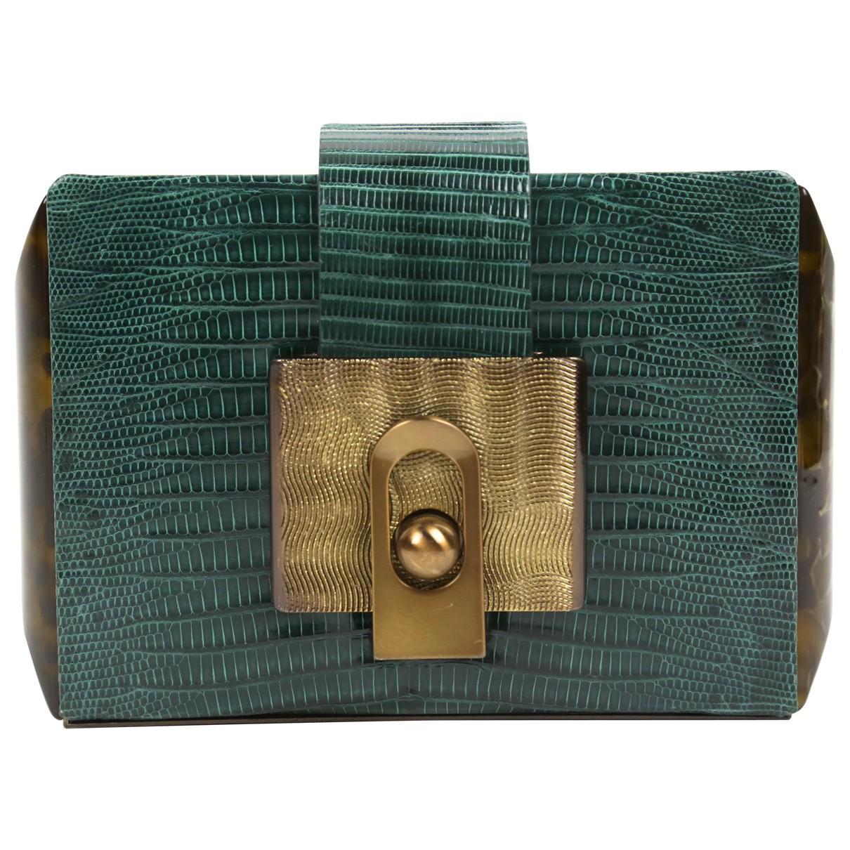 Lanvin Pre-owned - Lizard clutch bag ICnedl