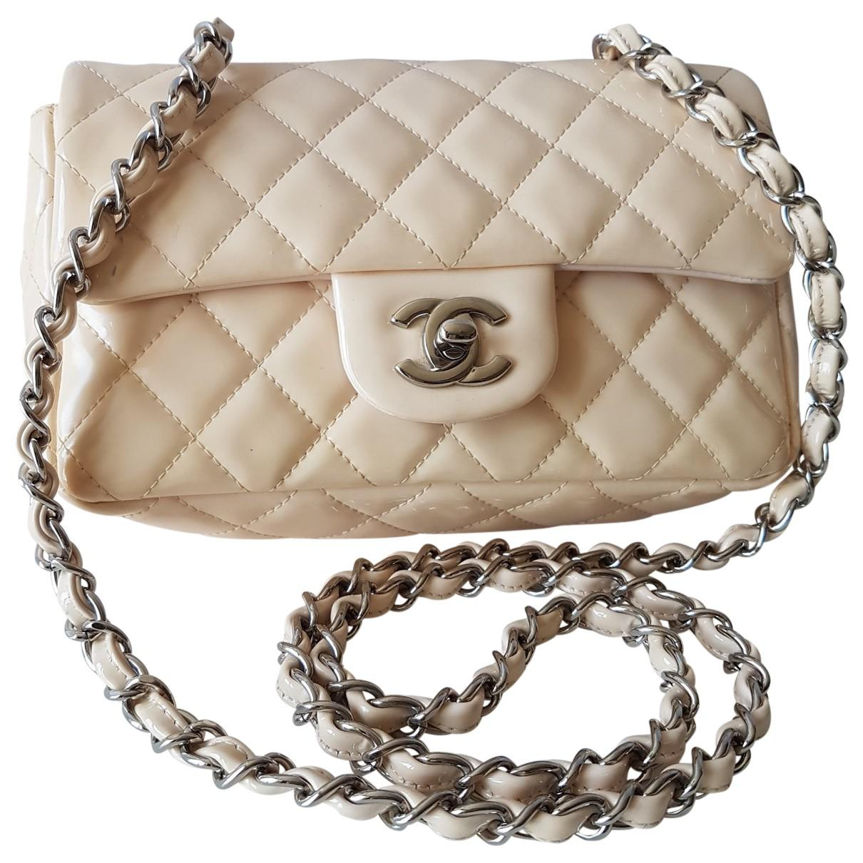 52efc6ea154d23 Chanel. Women's Natural Pre-owned Timeless Patent Leather Crossbody Bag