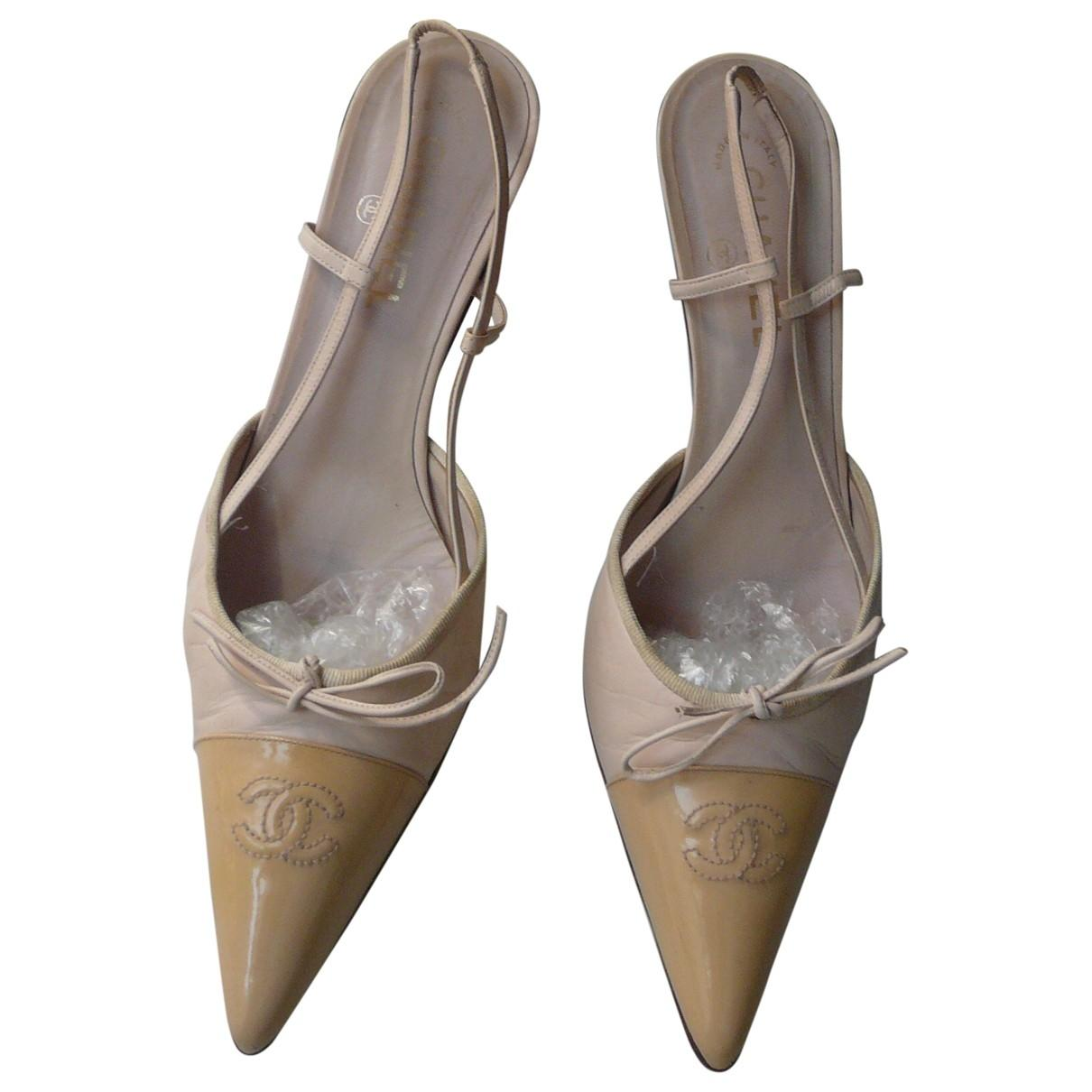 69660fa433d Chanel. Women s Natural Slingback Leather Heels.  316 From Vestiaire  Collective