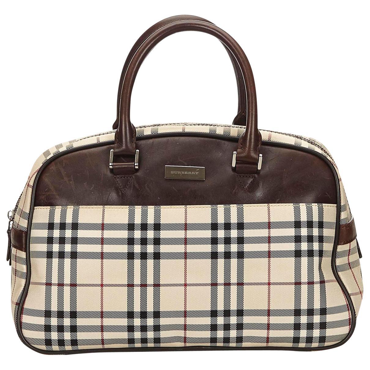 Burberry Cloth Handbag in Brown - Lyst 5ddd744590555