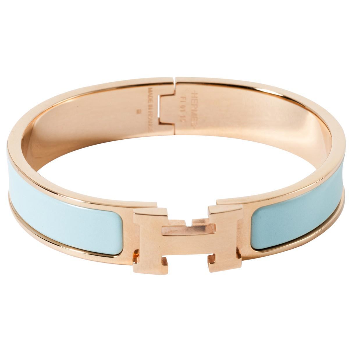 ... release date lyst hermès clic h bracelet in blue d2164 ee95a ea97ff4e7a4