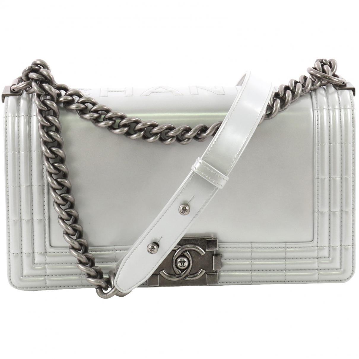 44064d0df966 Chanel Boy Leather Handbag in Metallic - Lyst