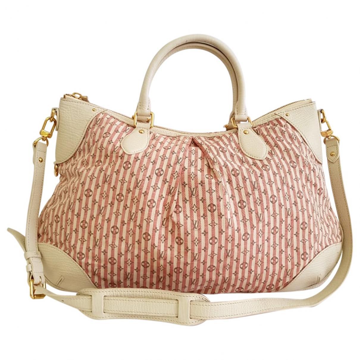 9fe16787d07c Lyst - Louis Vuitton Pre-owned Croisette Cloth Handbag in Pink