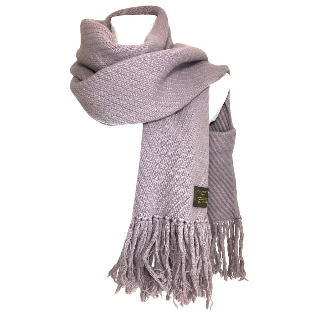d1f7fa8c4838 Lyst - Echarpe en laine Louis Vuitton en coloris Violet