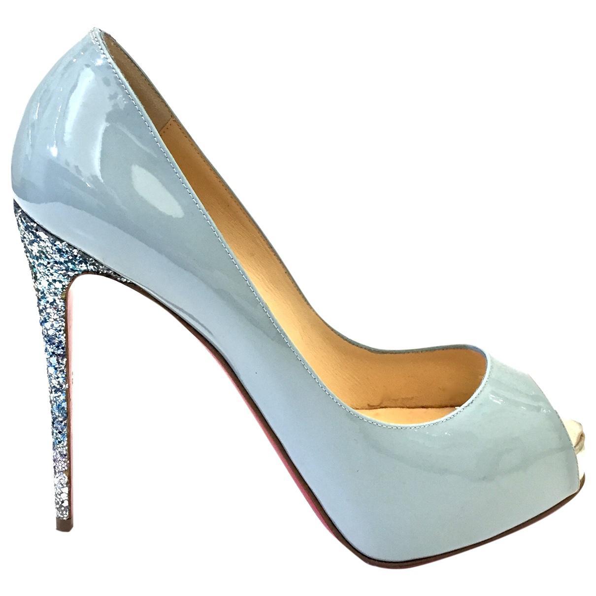 Pre-owned - Lady Peep heels Christian Louboutin KgmlnI