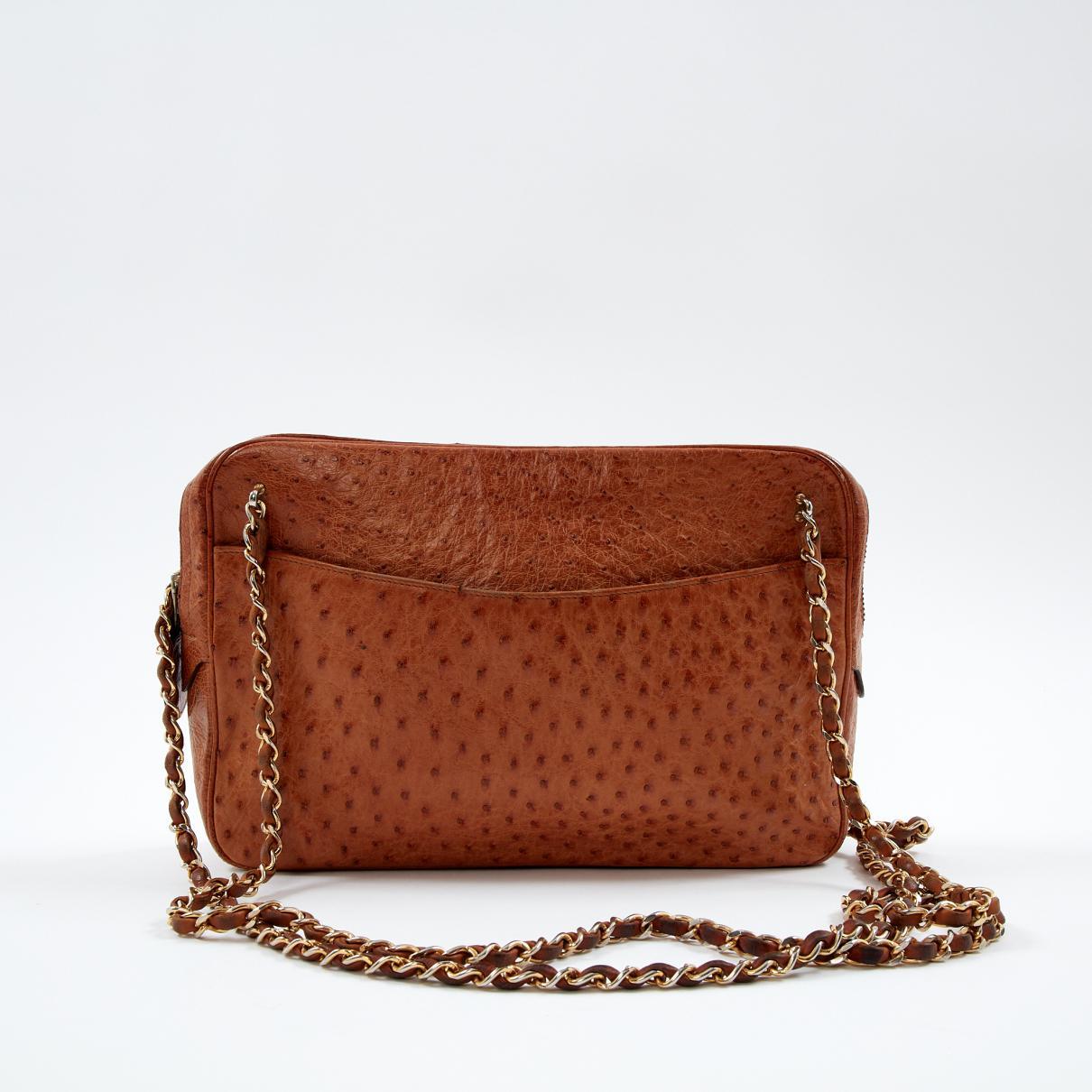 90c8f12f5c17 Chanel - Brown Vintage Camera Camel Ostrich Handbag - Lyst. View fullscreen