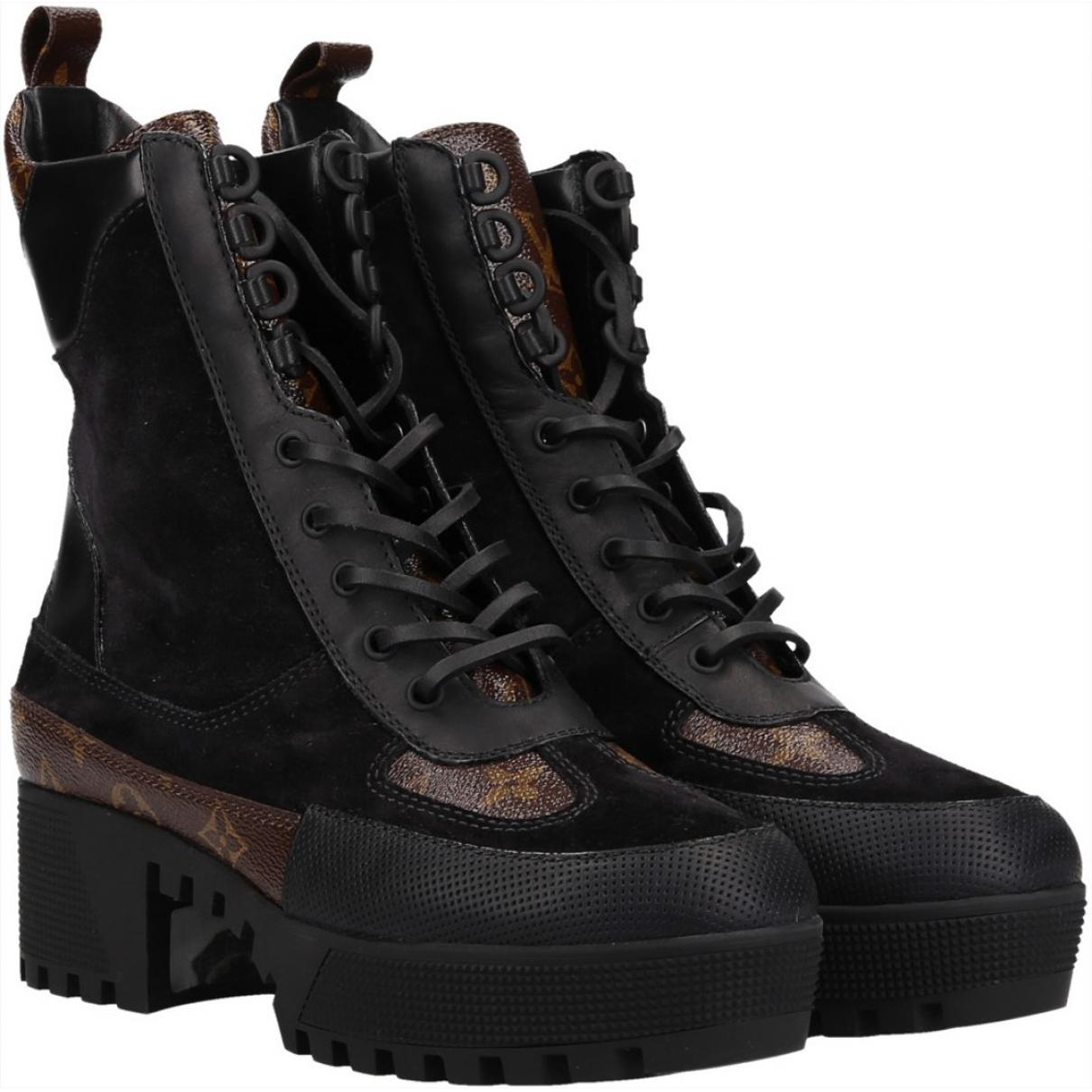 f7d273576720 Lyst - Louis Vuitton Pre-owned Boots in Black