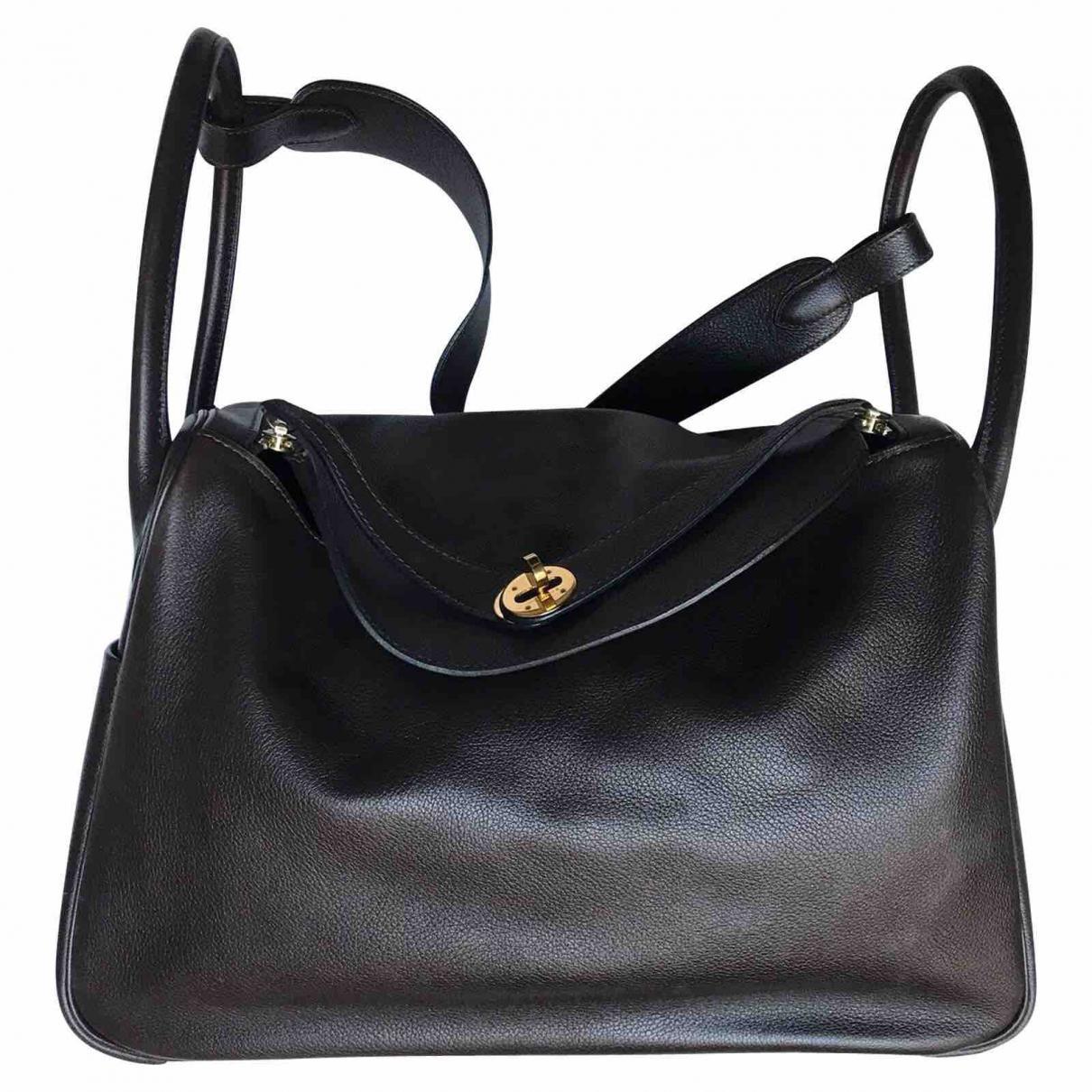 71ca8599fbd0 ... gold hardware cdd35 14f25  promo code hermès. womens brown pre owned lindy  leather handbag fc22d 7c250