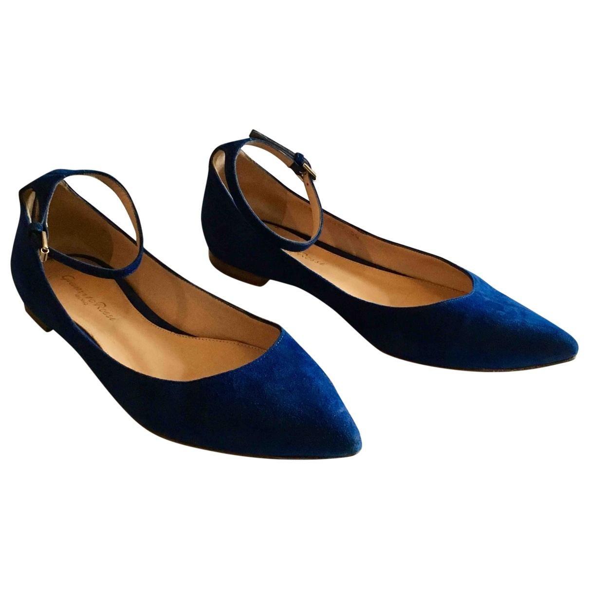 060e62bb7f35b2 Lyst - Gianvito Rossi Ballet Flats in Blue