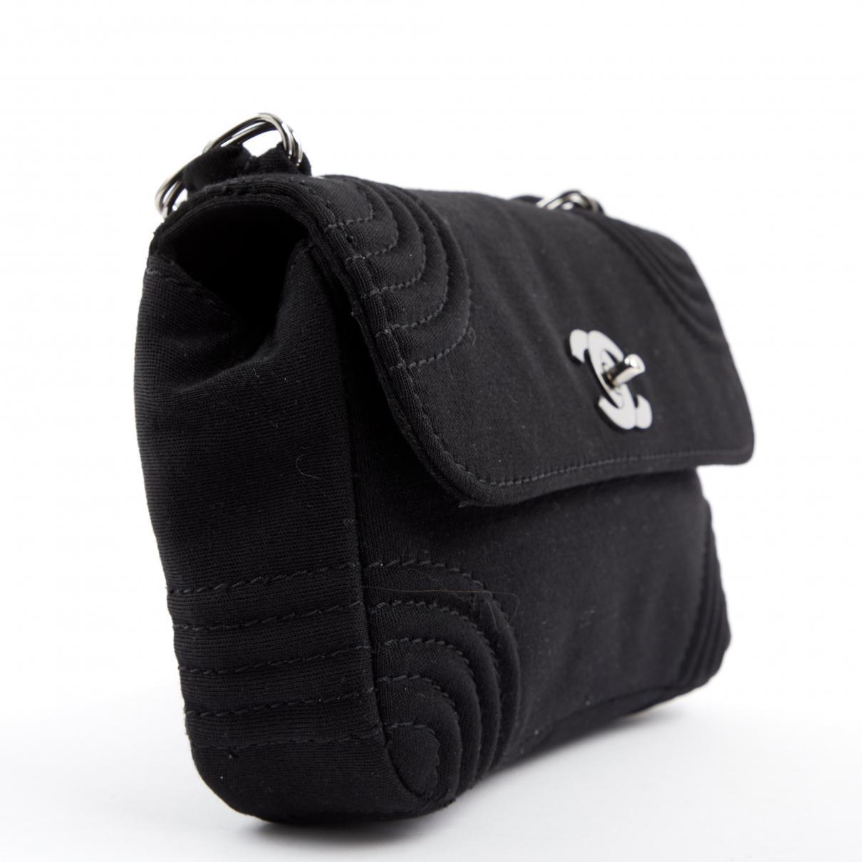 f1418847958a Chanel - Vintage Timeless Black Cloth Handbag - Lyst. View fullscreen
