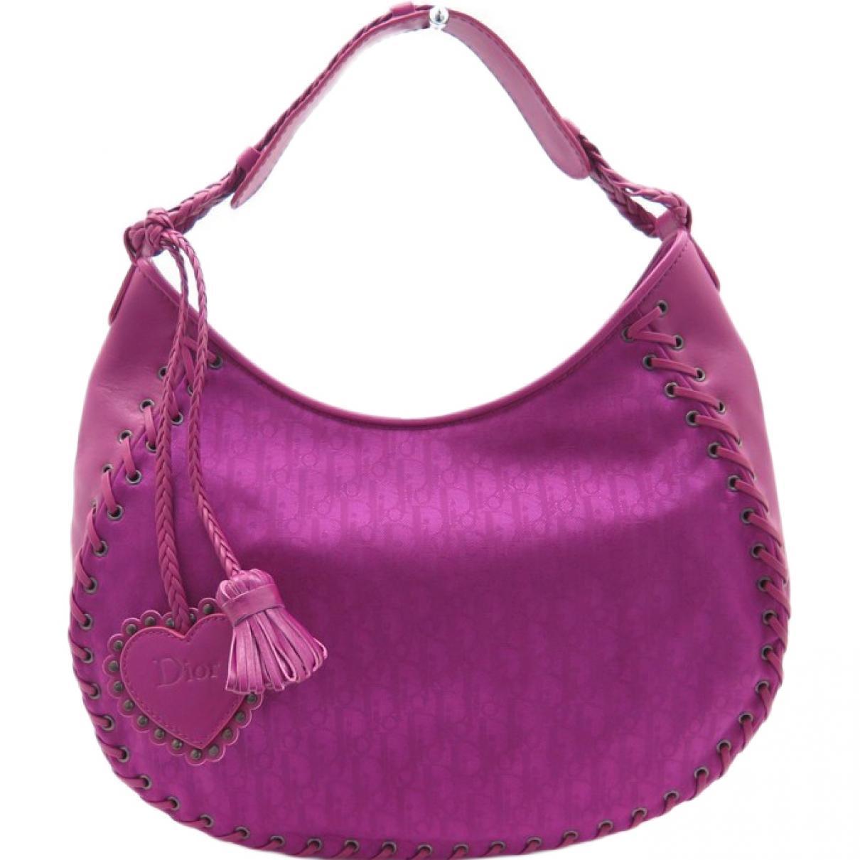 a1b8be0df8 Sac à main en toile Dior en coloris Violet - Lyst
