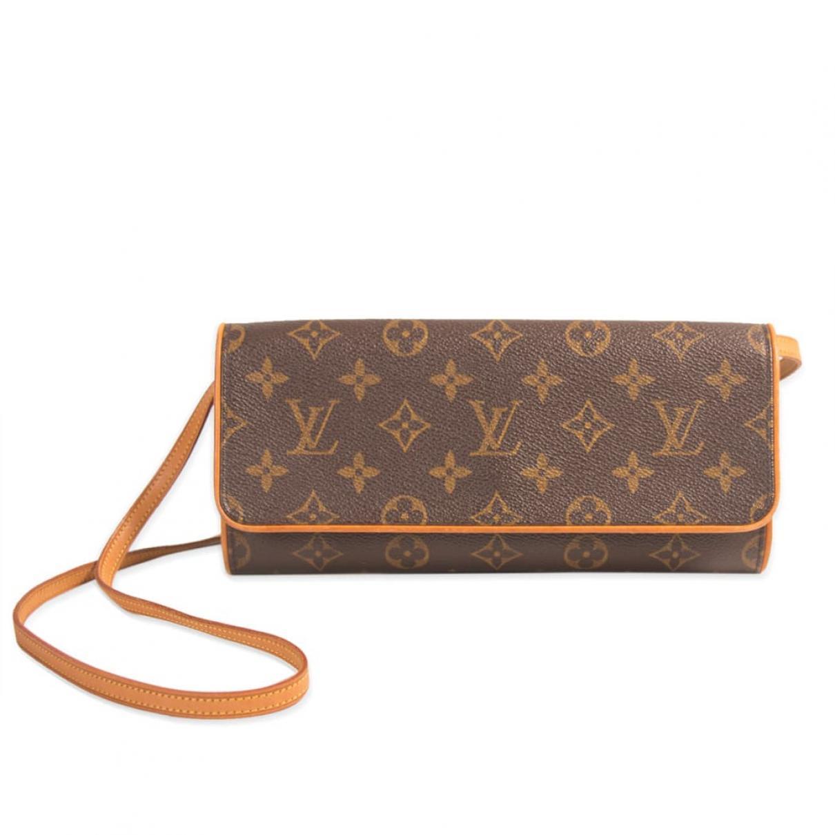 96d1f23cdd4e Louis Vuitton Twin Brown Cloth Handbag in Brown - Lyst