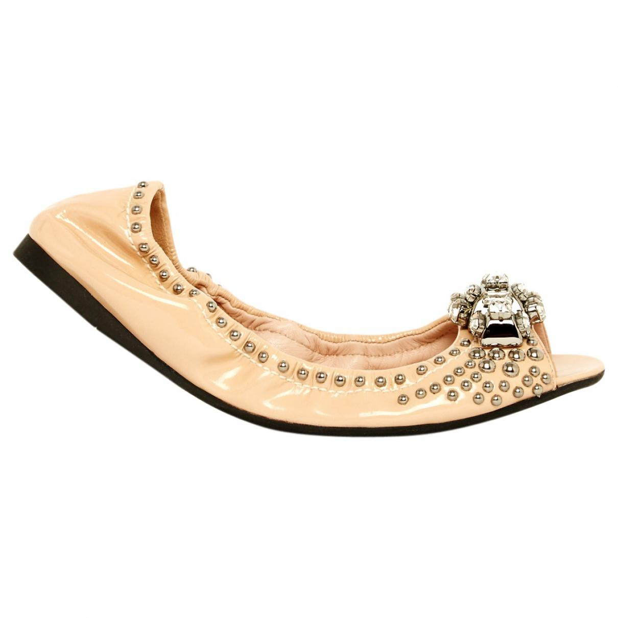 outlet store 3f058 0b811 miu-miu-Pink-Pre-owned-Leather-Varnish-Ballet-Flats.jpeg