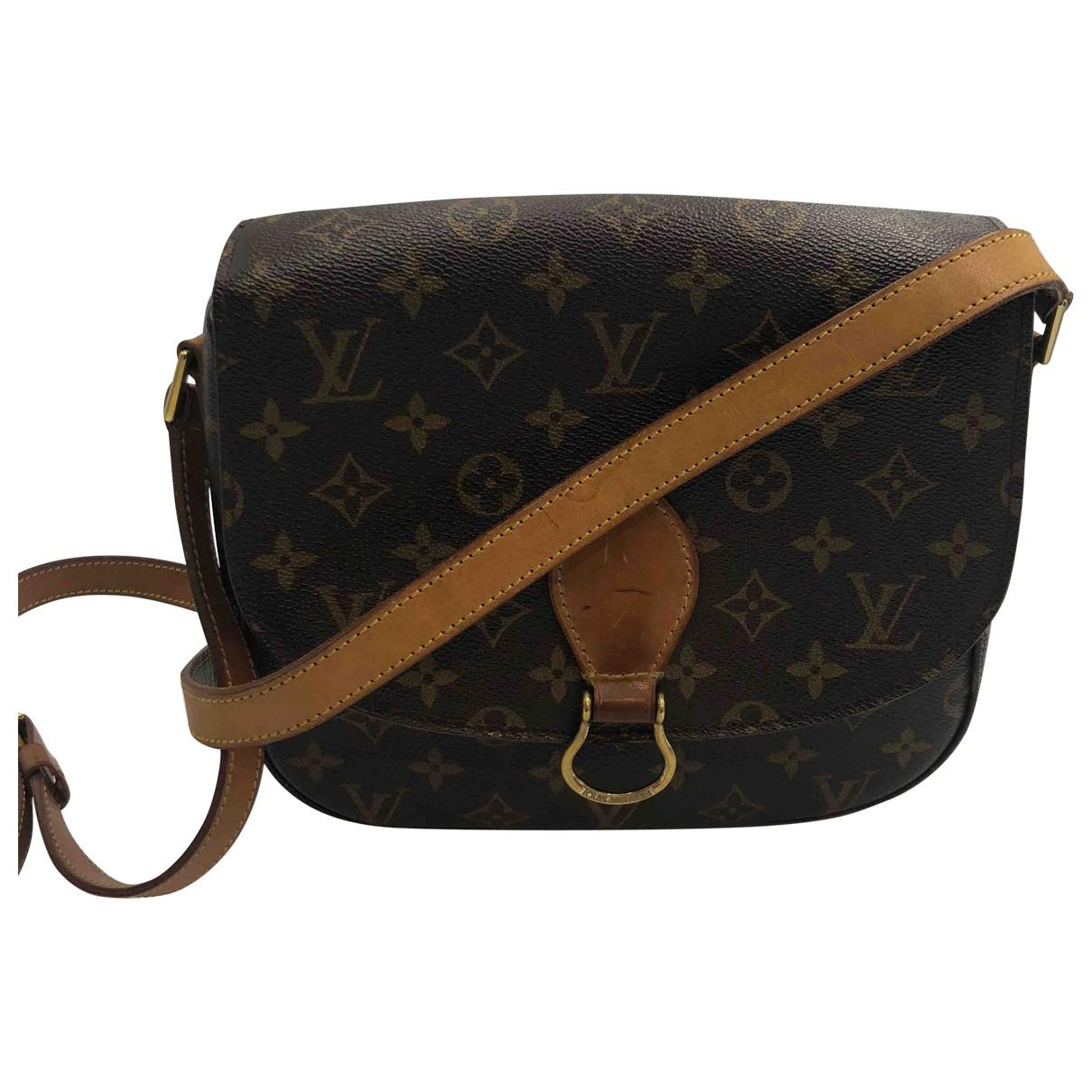641d8889b6fa2 Lyst - Louis Vuitton Saint Cloud Cloth Clutch Bag in Black