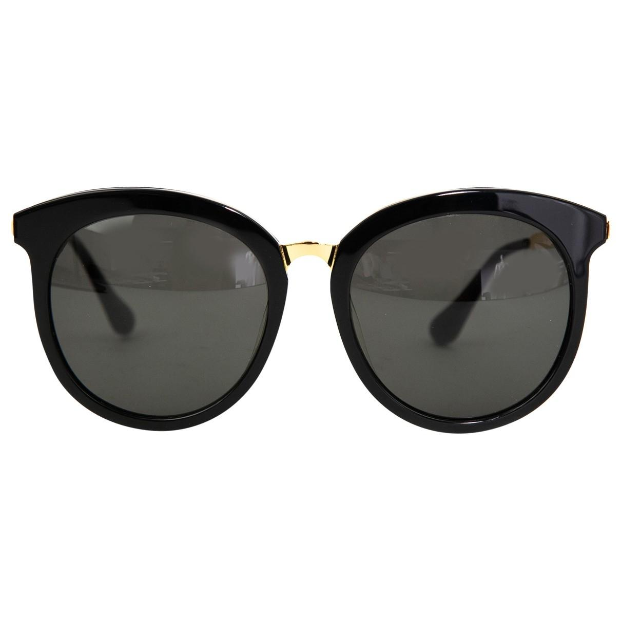 39eabc52b5edf Lyst - Gentle Monster Pre-owned Black Plastic Sunglasses in Black