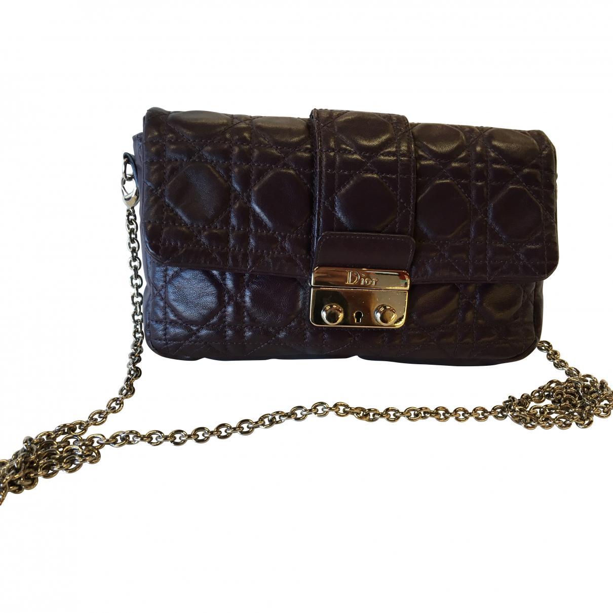 e9b789bd718e Dior Pre-owned Miss Purple Leather Clutch Bag in Purple - Lyst