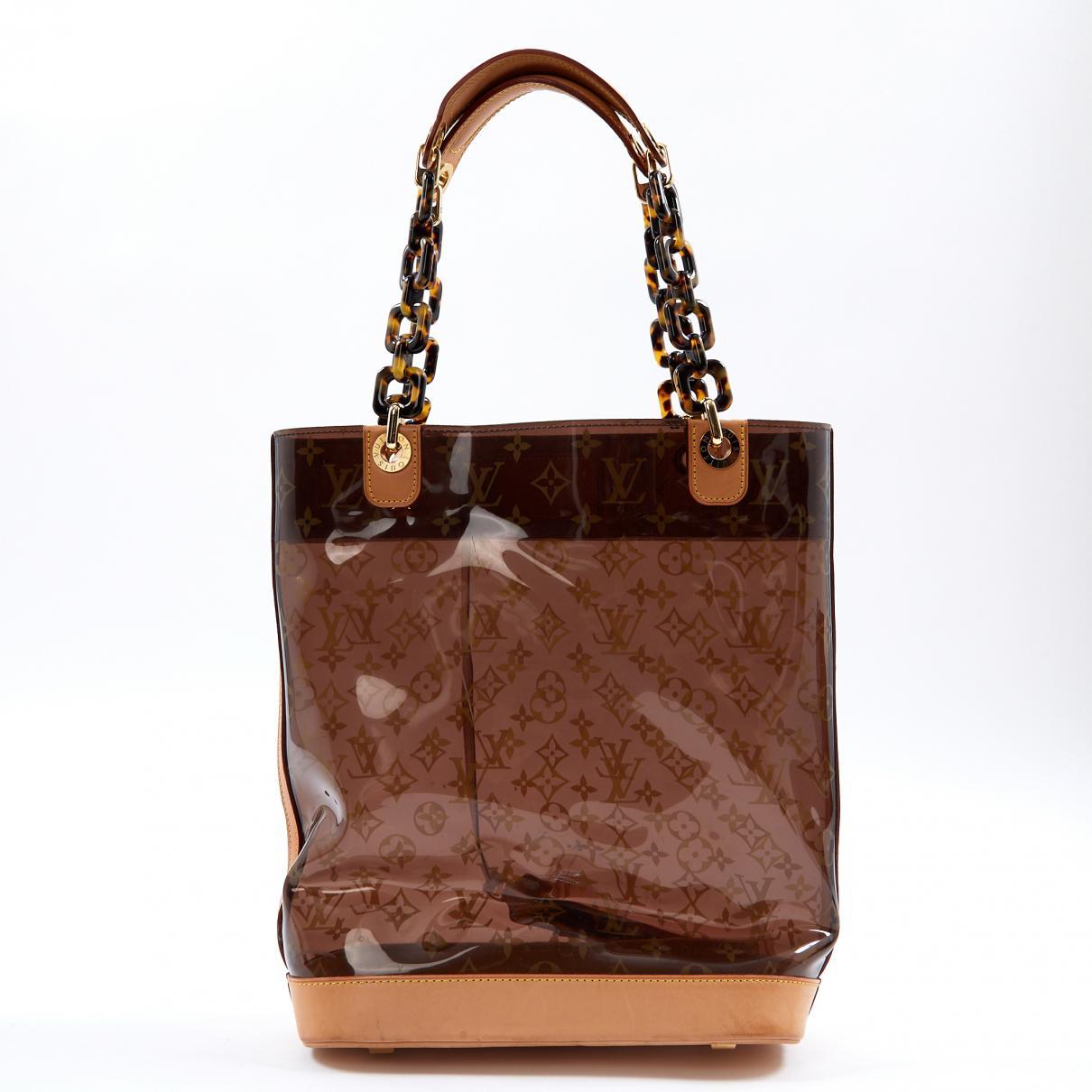 9d6b944f3fb7 Lyst louis vuitton pre owned brown plastic handbag in brown jpg 1210x1210 Louis  vuitton plastic purse