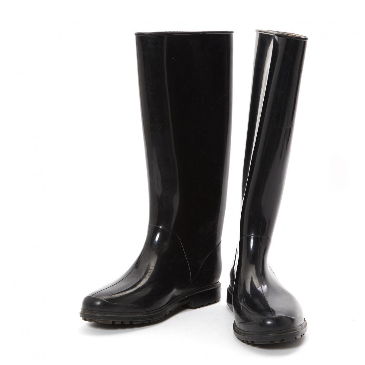335f13c47cc Lyst - Bottes de pluie Burberry en coloris Noir - 6 % de réduction