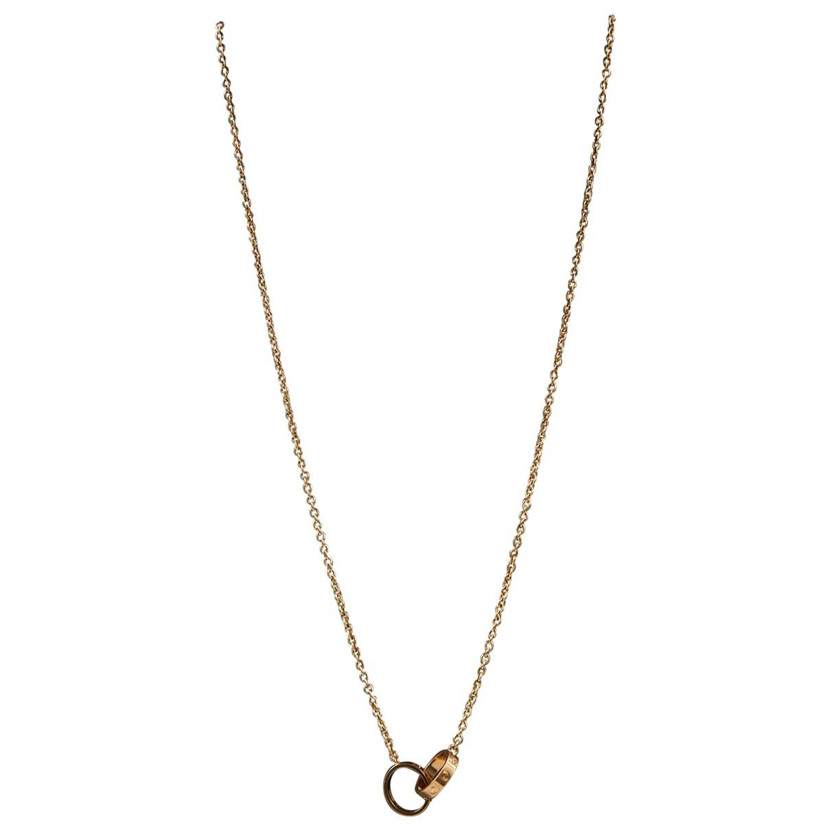 ce3bc619c2280 Lyst - Cartier Love Gold Yellow Gold Necklace in Metallic