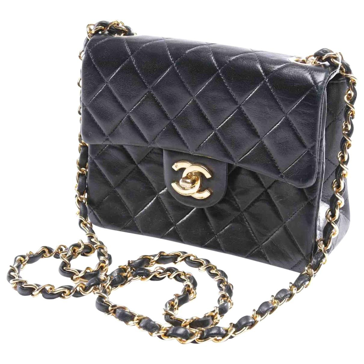 d23ff99fd947 Chanel Pre-owned Timeless Leather Crossbody Bag in Black - Lyst