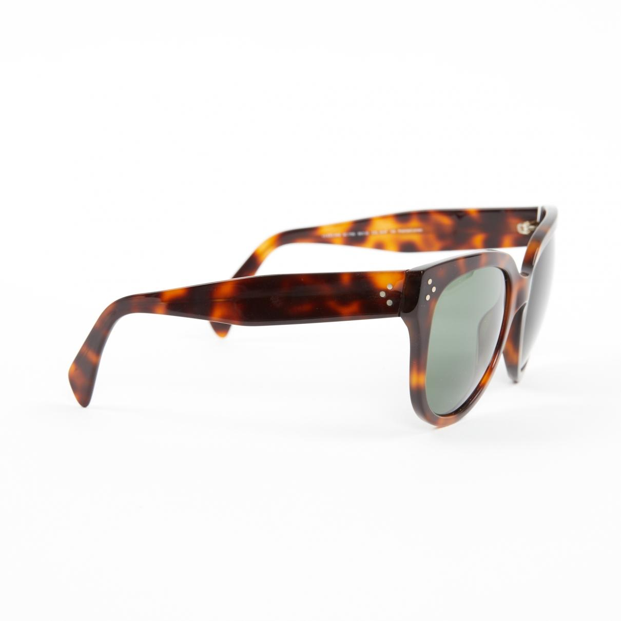 af0cd4d8694f Céline - Luca Brown Plastic Sunglasses - Lyst. View fullscreen
