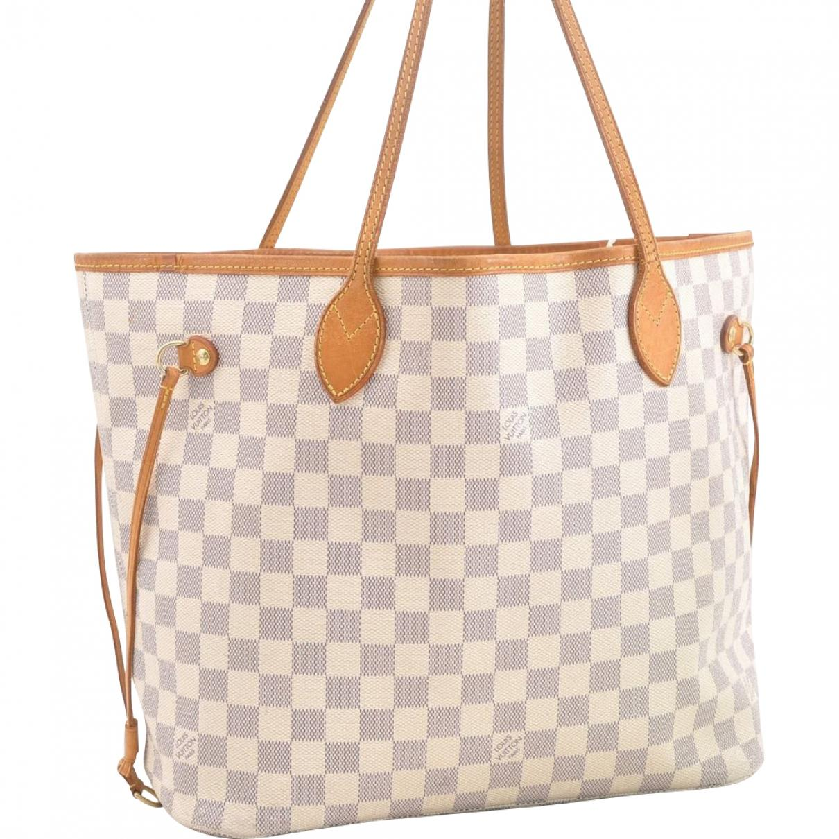 cce09e4a91ac Louis Vuitton Neverfull Cloth Handbag in White - Save 35% - Lyst
