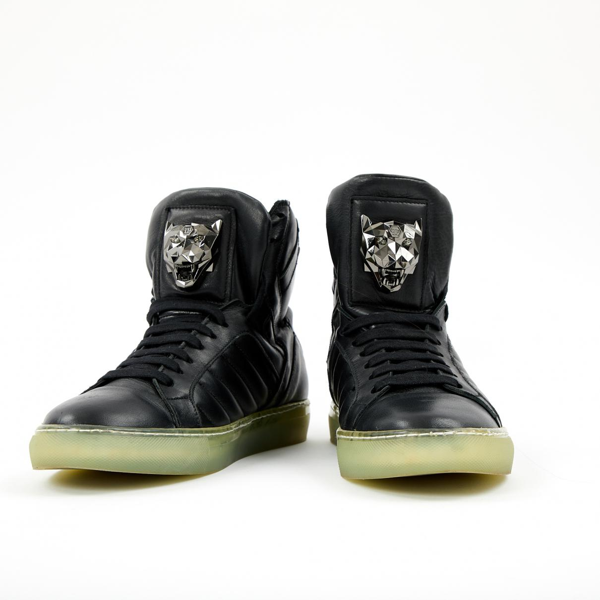 Pre-owned - Leather high trainers Philipp Plein RGgYh