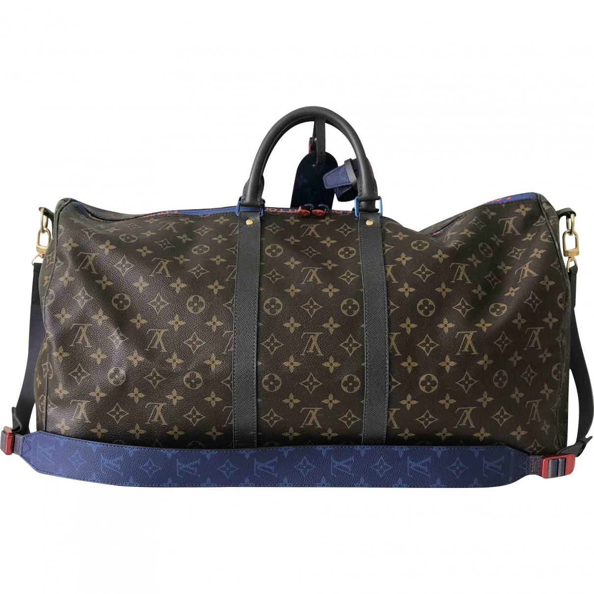 718d4db88c1a Louis Vuitton. Women s Black Pre-owned Keepall Multicolour Leather Travel  Bags